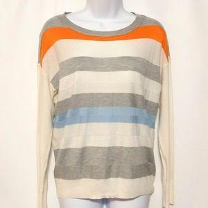 Vince Camuto stripe color block sweater XS